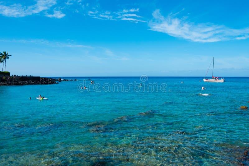 水休闲毛纳Lani海湾夏威夷 免版税库存照片