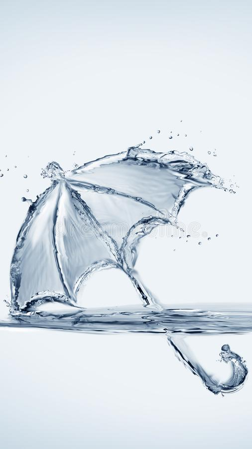 水伞 免版税图库摄影