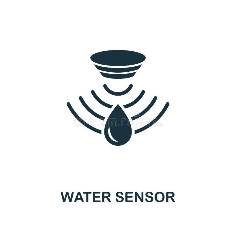 水传感器象 从传感器象汇集的单色样式设计 UI和UX 映象点完善的水传感器象 对网desig 向量例证