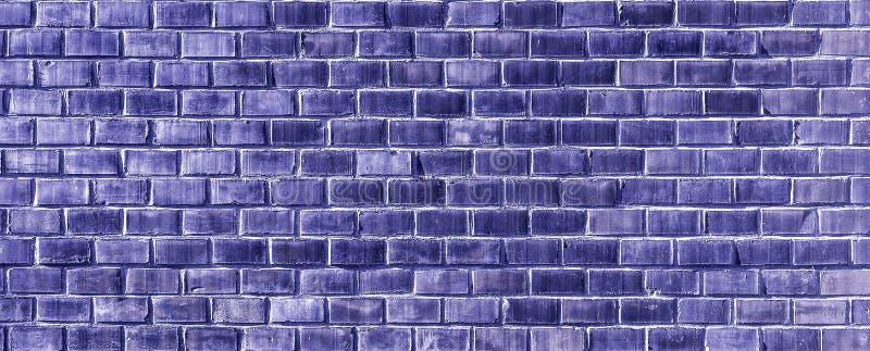 水军蓝色砖墙纹理关闭 图库摄影