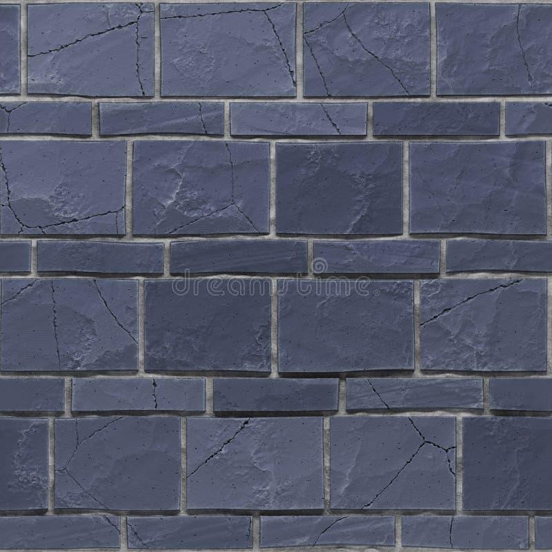 水军蓝色难看的东西brickwall无缝的exture  3d回报 库存例证