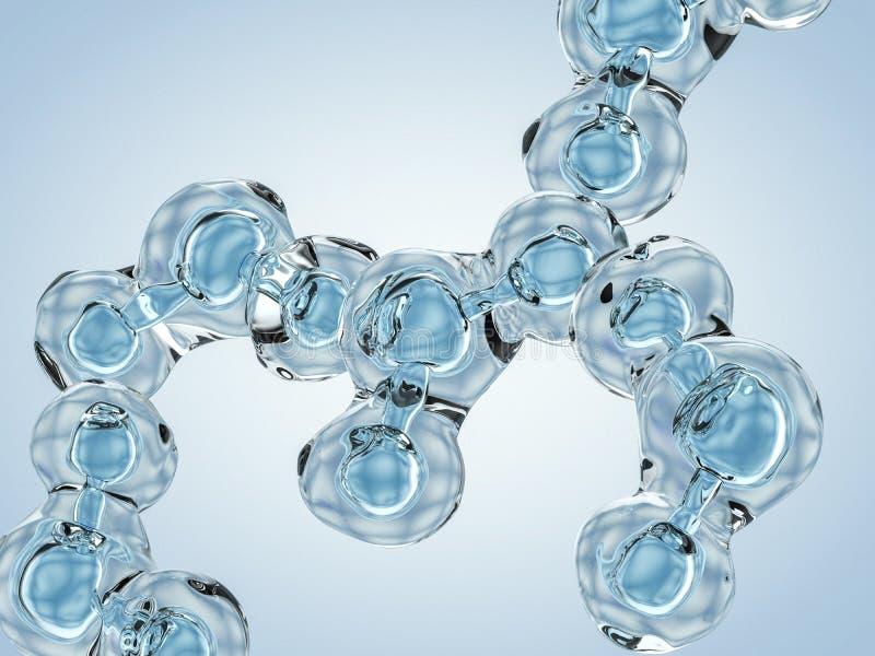 水分子 结构 3d 库存例证