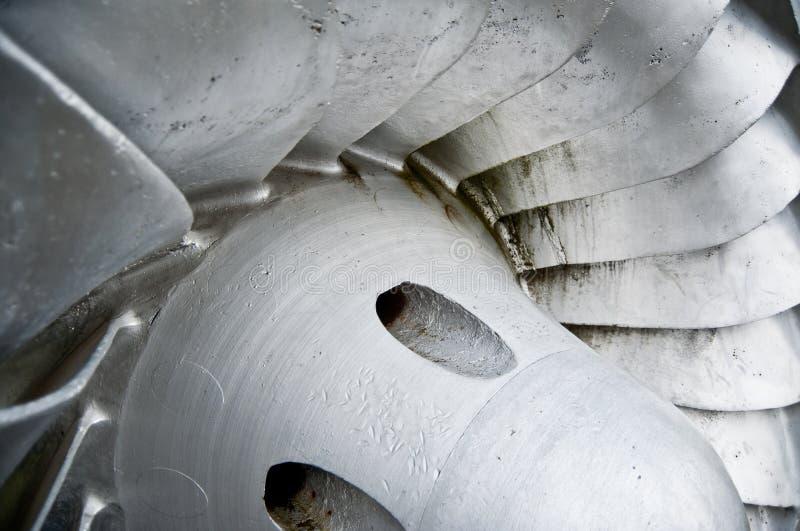 水力发电刀片的引擎 免版税图库摄影