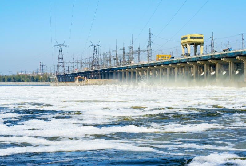 水力发电的岗位 库存照片