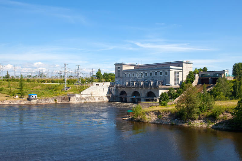 水力发电的narva发电站 免版税库存照片