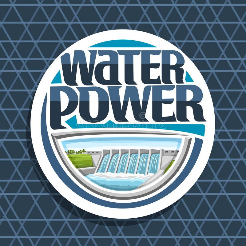 水力的传染媒介商标 库存例证