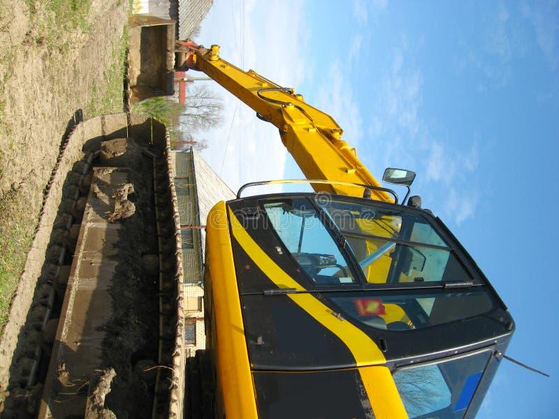 水力的挖掘机 免版税库存照片
