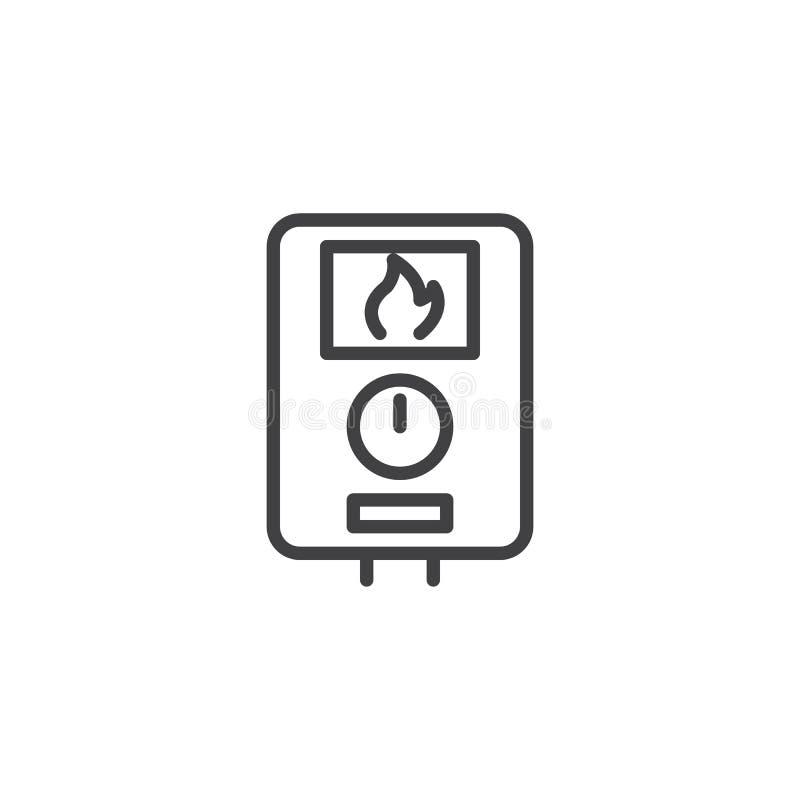 水加热器线象 库存例证
