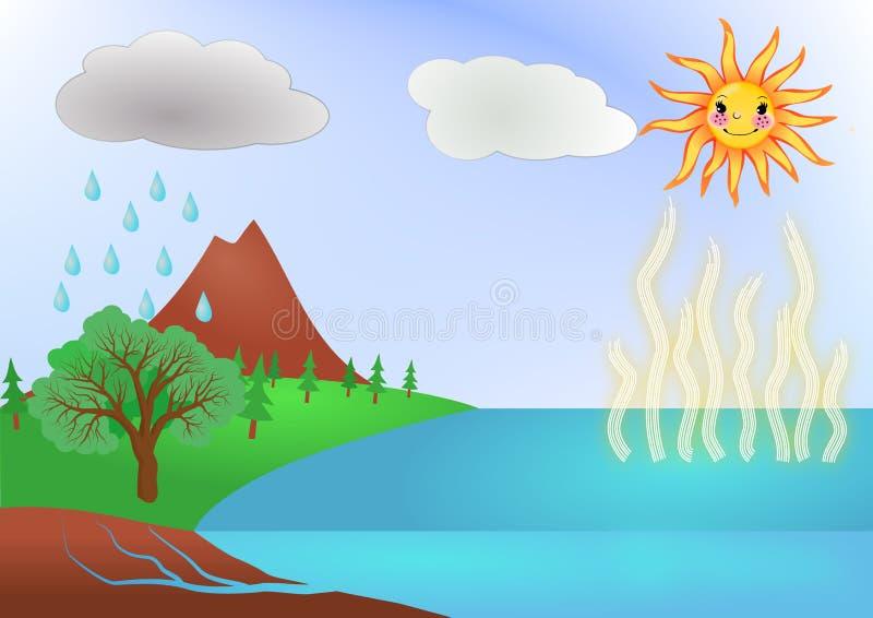水周期概念例证 皇族释放例证