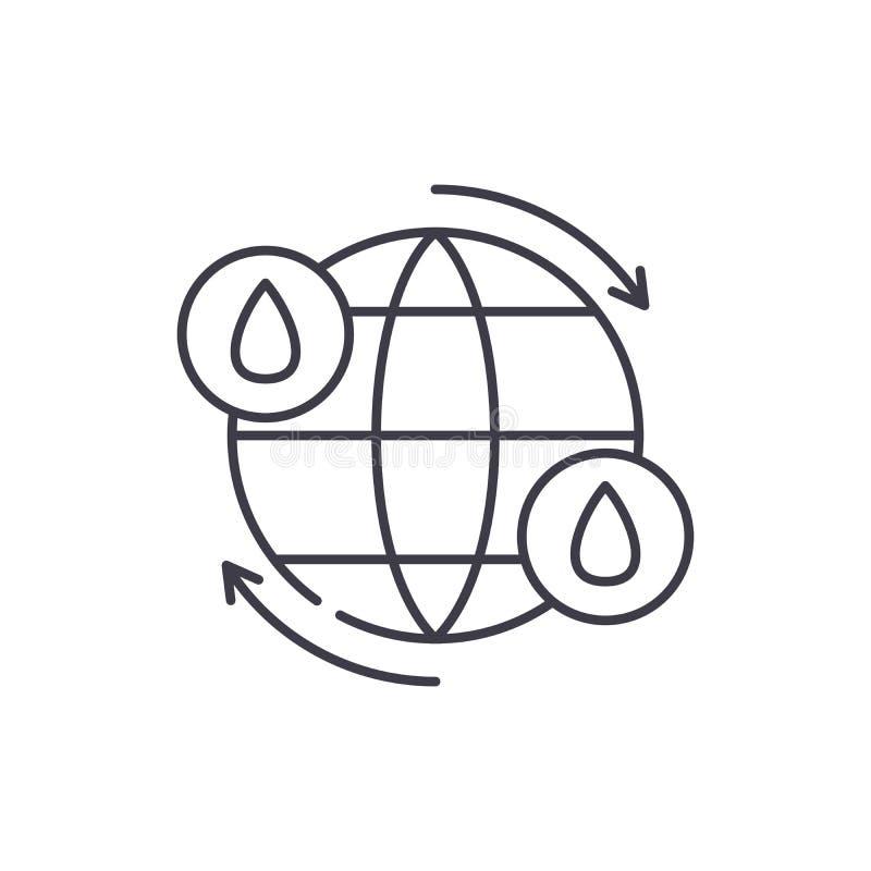 水周期线象概念 水周期传染媒介线性例证,标志,标志 皇族释放例证