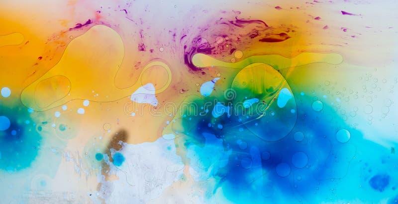 水和油漆纹理 库存图片