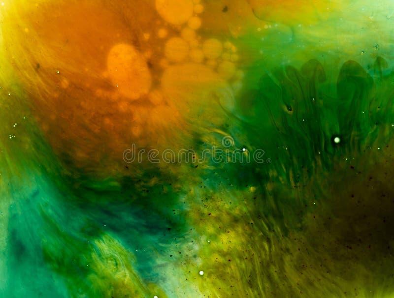 水和油漆纹理 免版税图库摄影