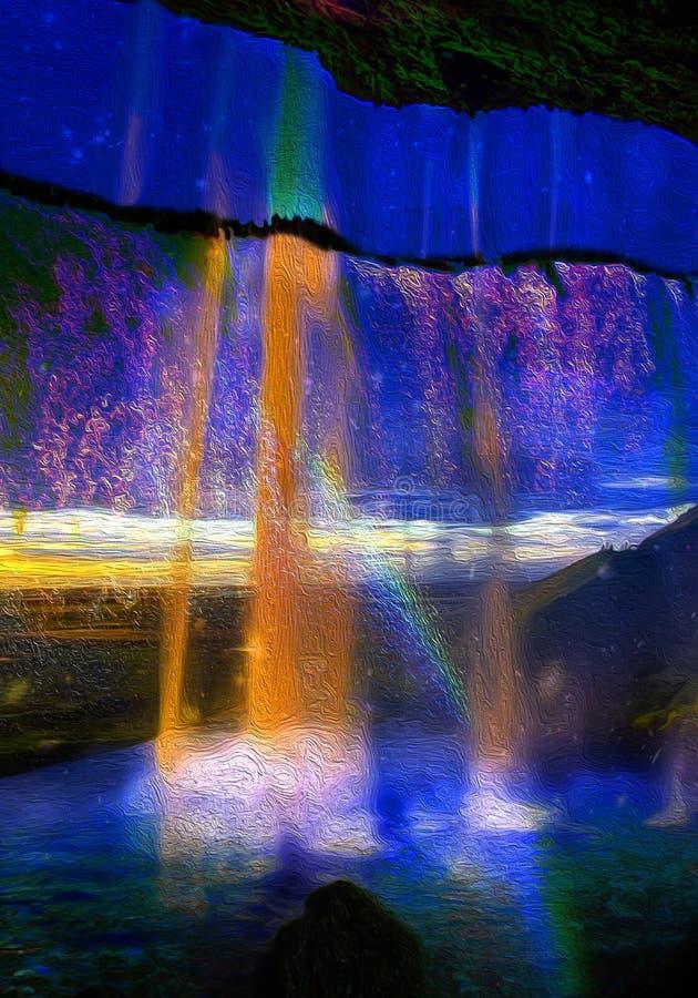 水和颜色喜悦  皇族释放例证