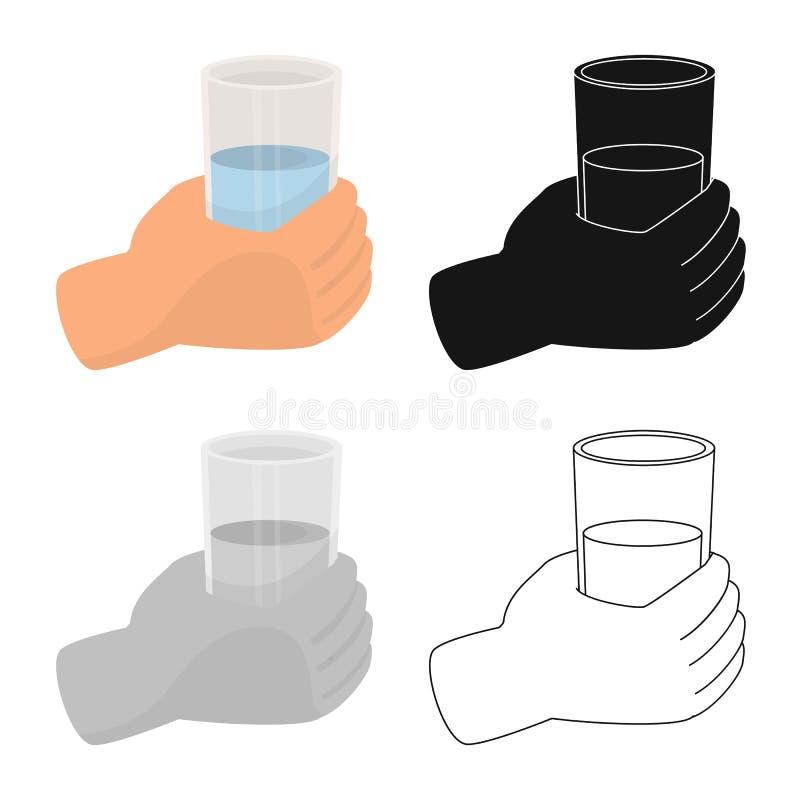 水和饮料标志被隔绝的对象  水的汇集和股票的玻璃传染媒介象 库存例证