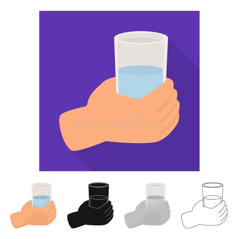 水和饮料象被隔绝的对象  设置水和玻璃传染媒介象股票的 皇族释放例证