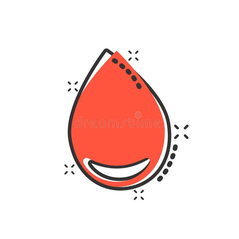 水在可笑的样式的下落象 雨珠传染媒介动画片例证图表 小滴水一滴企业概念飞溅作用 皇族释放例证