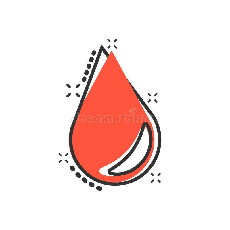 水在可笑的样式的下落象 雨珠传染媒介动画片例证图表 小滴水一滴企业概念飞溅作用 库存例证