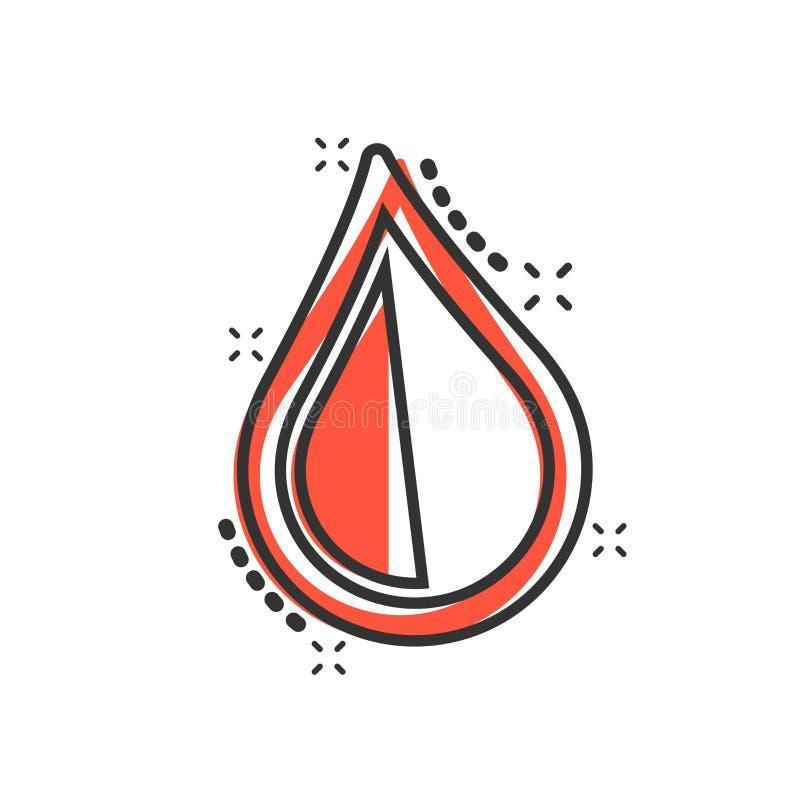 水在可笑的样式的下落象 雨珠传染媒介动画片例证图表 小滴水一滴企业概念飞溅作用 向量例证