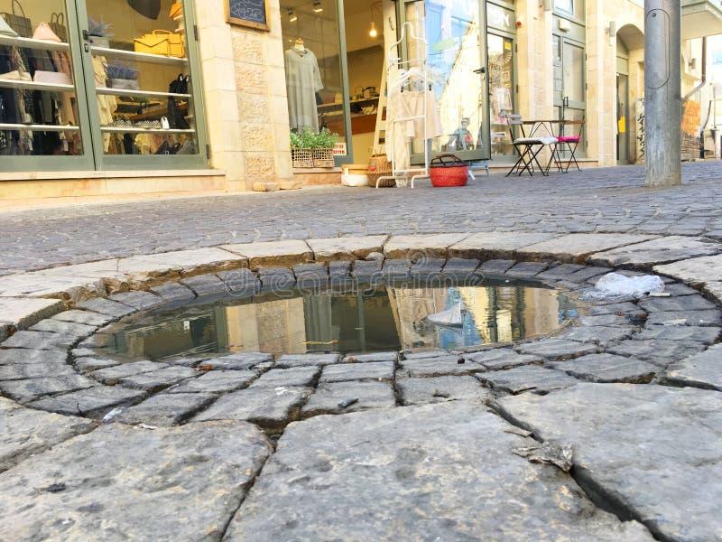 水坑在耶路撒冷 免版税图库摄影