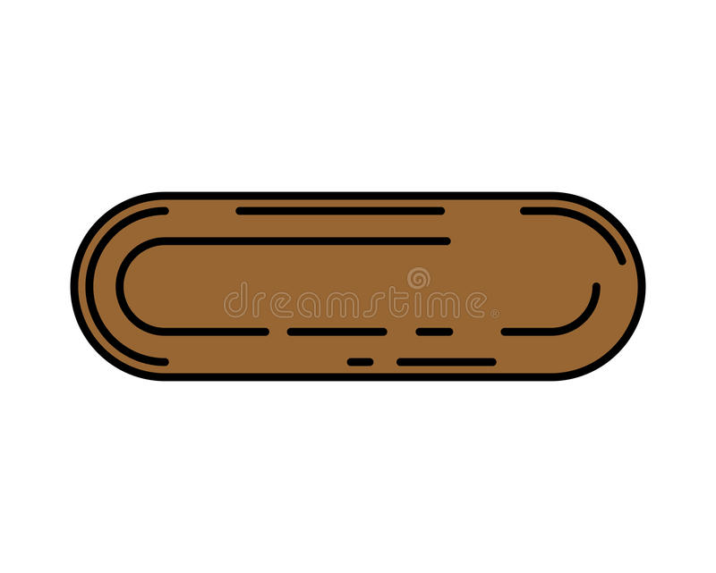水坑是线性样式 土等高 布朗水坑 向量例证