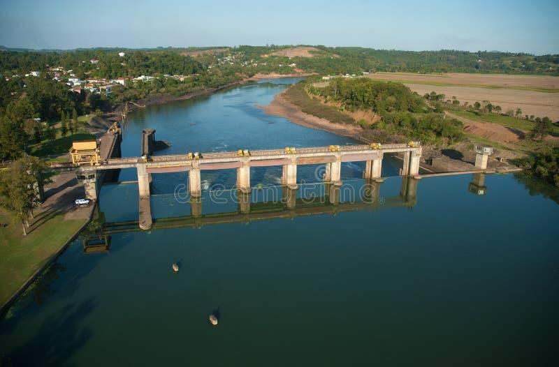 水坝和Bom Retiro水门做南水道 库存图片