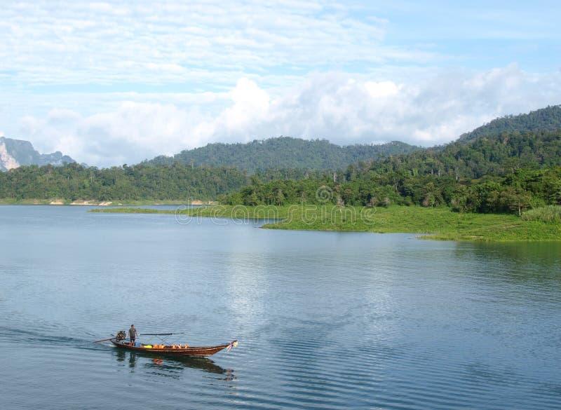 水坝天堂隐藏的ratchaprapa泰国 免版税库存图片