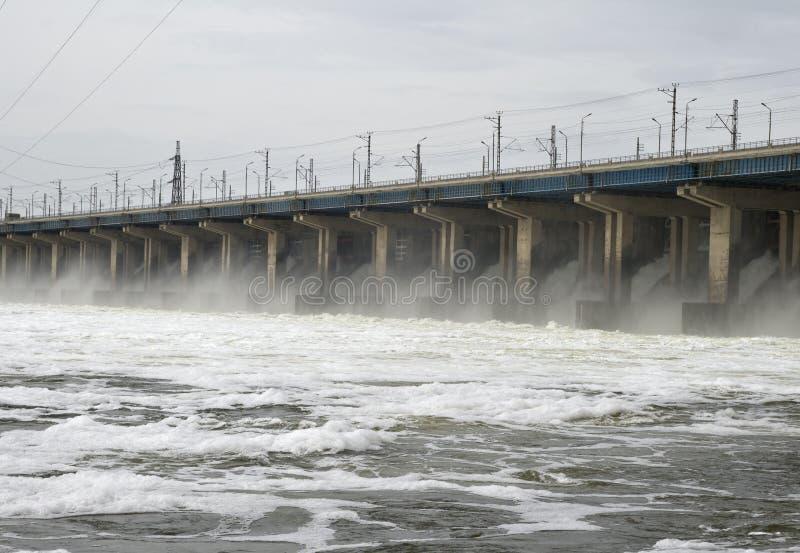 水坝水力发电站 库存照片
