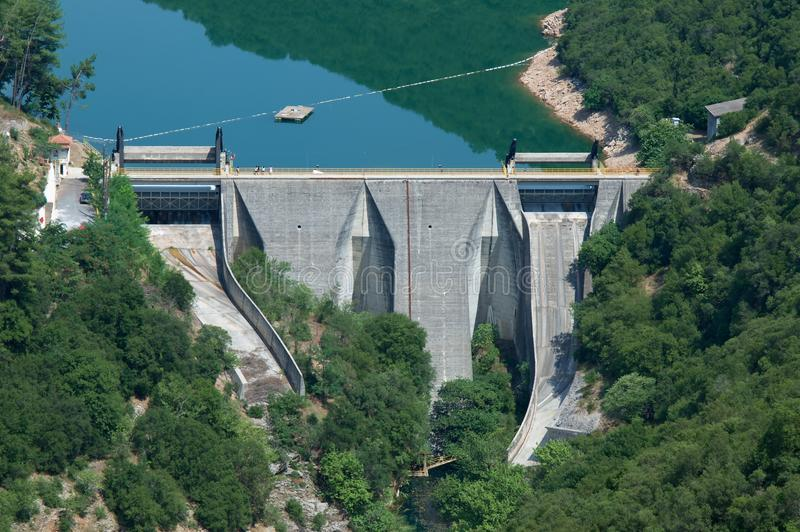 水坝水力发电 库存照片