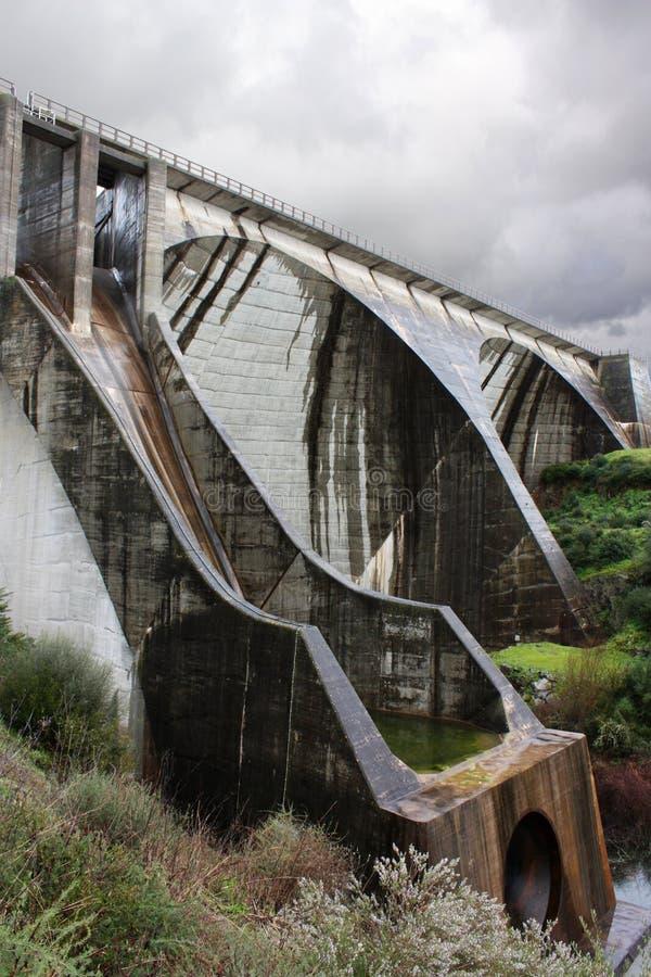 水坝水 图库摄影