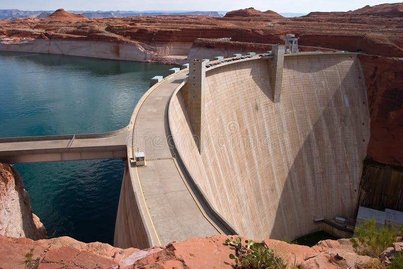 水坝电与氢结合的次幂 库存图片