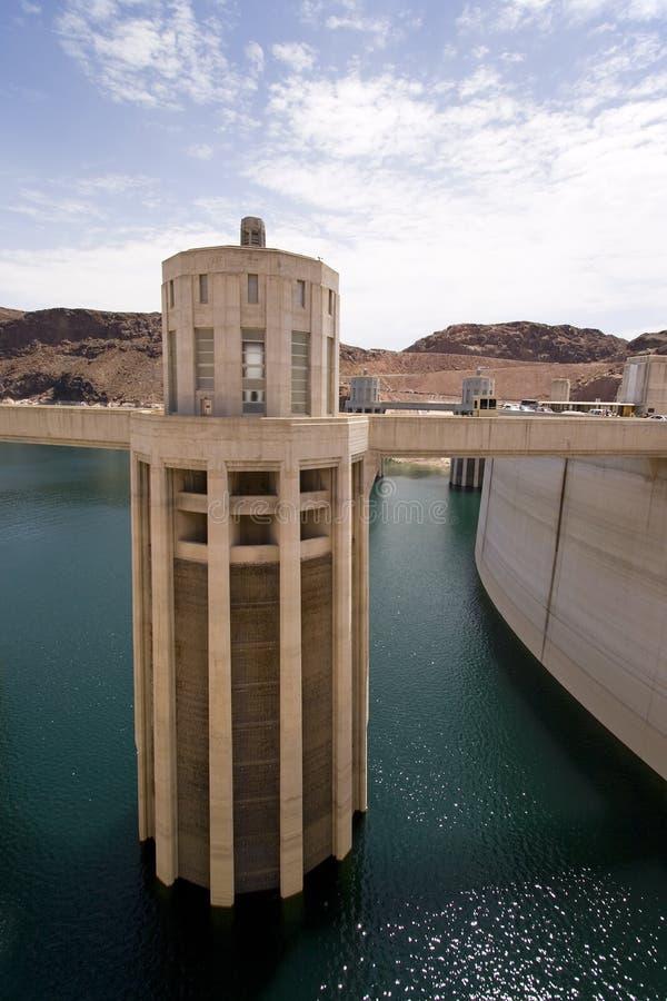 水坝真空吸尘器入口塔 库存照片