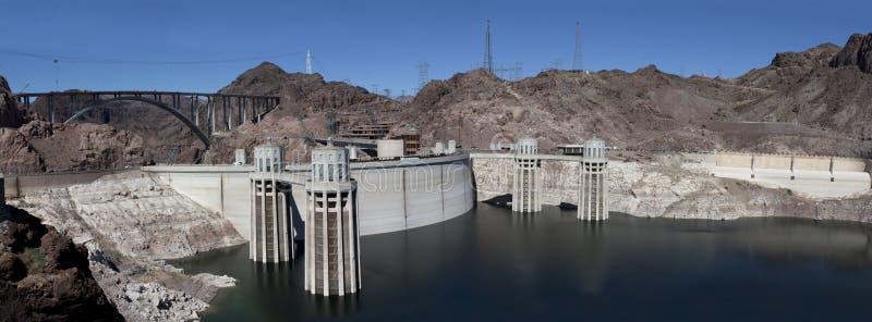 水坝真空吸尘器全景 免版税库存图片