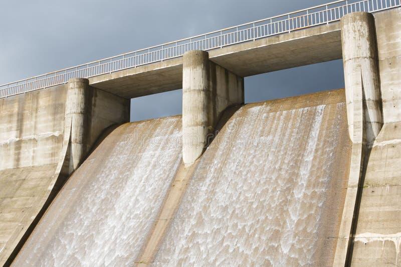 水坝能源生成浇灌 库存照片