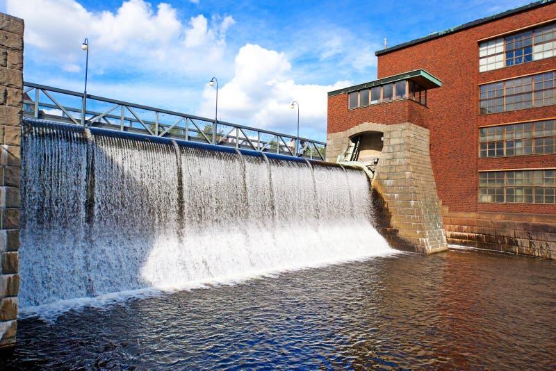 水坝tammerkoski 免版税库存照片