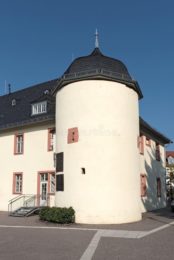 水城堡在Hofheim上午Taunus,黑森,德国 免版税图库摄影