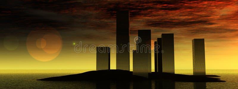 水城市10 向量例证
