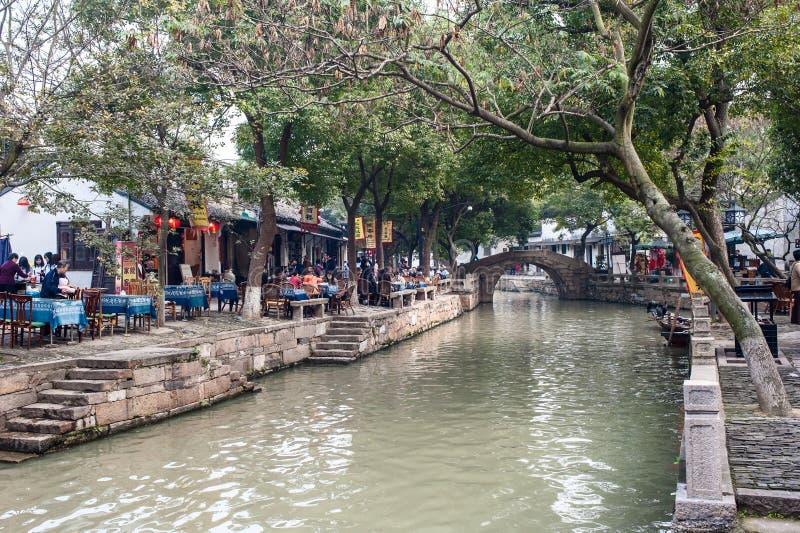 水城镇在中国 图库摄影