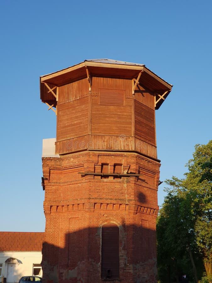 水塔在拉脱维亚 图库摄影