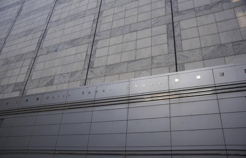 水塔地方购物和娱乐中心,芝加哥,伊利诺伊 免版税库存照片