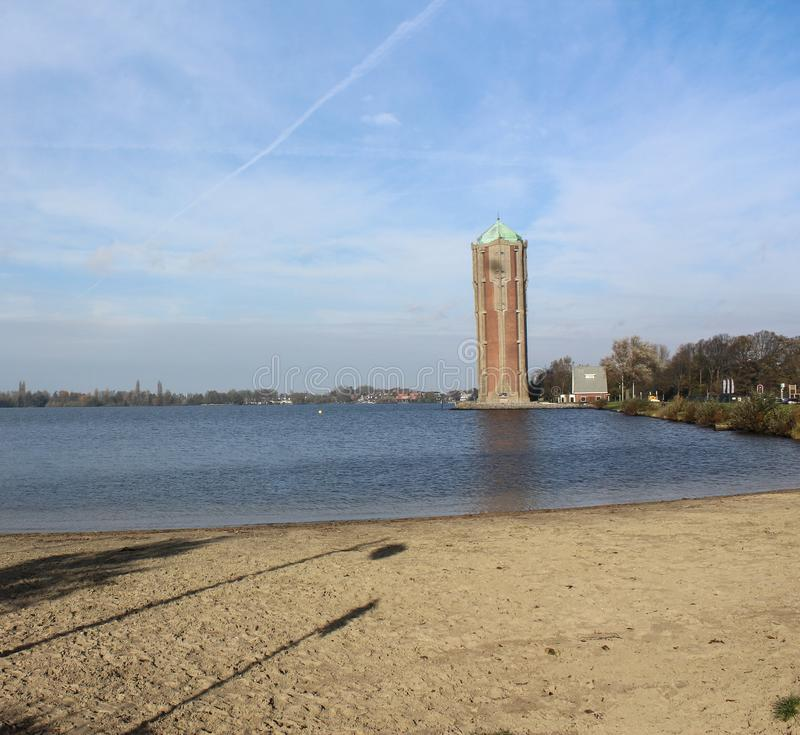 水塔aalsmeer,在荷兰 免版税库存照片