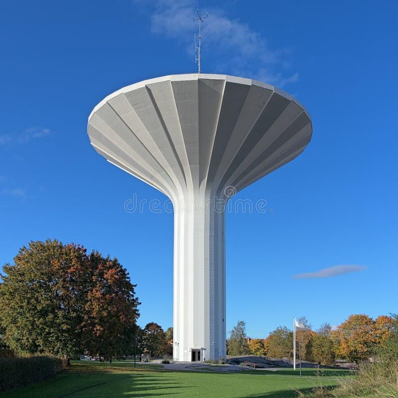水塔Svampen在Orebro,瑞典 库存照片