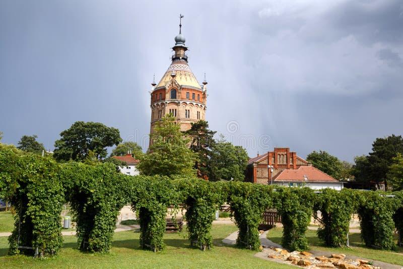 水塔Wasserturm 法沃里滕,维也纳,奥地利 库存照片