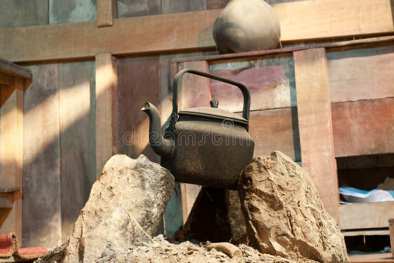 水壶石头 库存照片