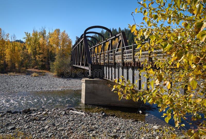 水壶谷路轨桥梁,BC普林斯顿 免版税图库摄影