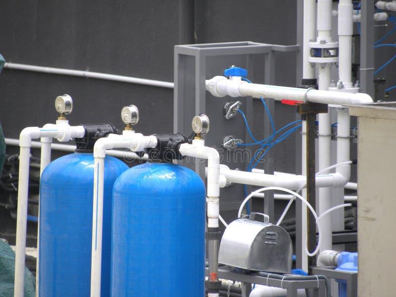 水处理和滤清系统 免版税库存照片