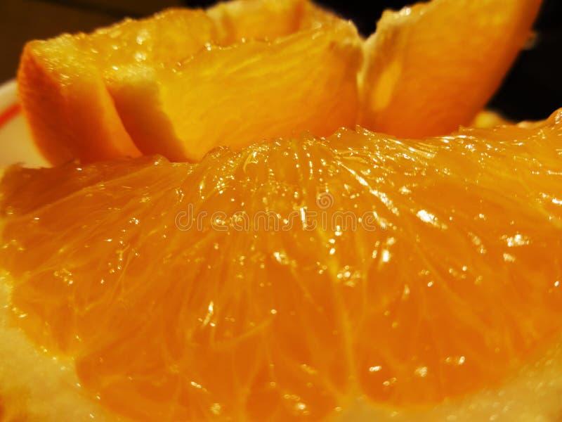 水多的橙色黏浆状物质 免版税库存图片