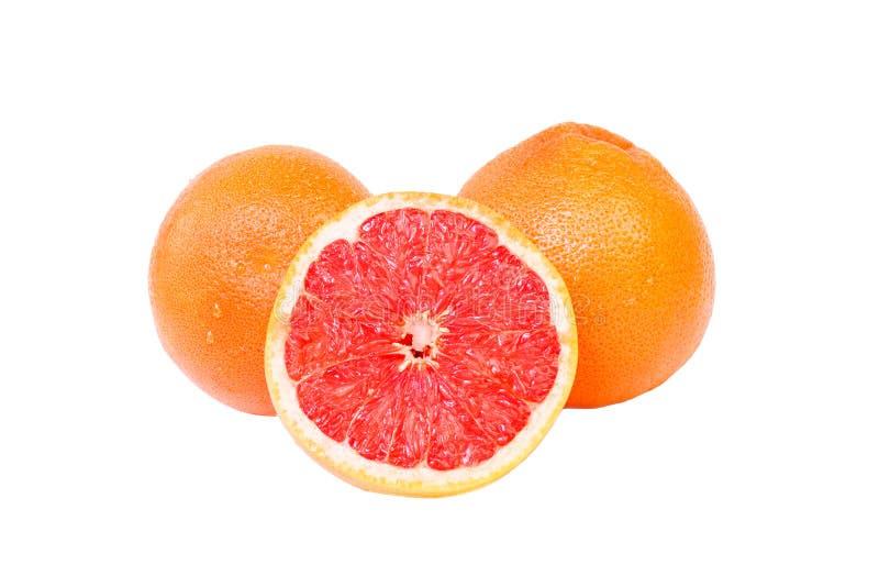 水多的粉红色葡萄柚 免版税库存照片
