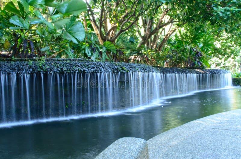 水小河在庭院里 库存图片