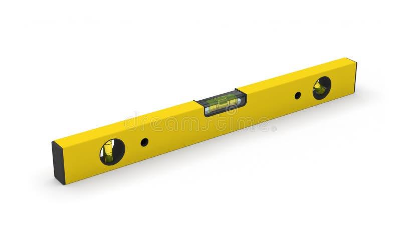 水平仪工具建筑精确度措施 向量例证