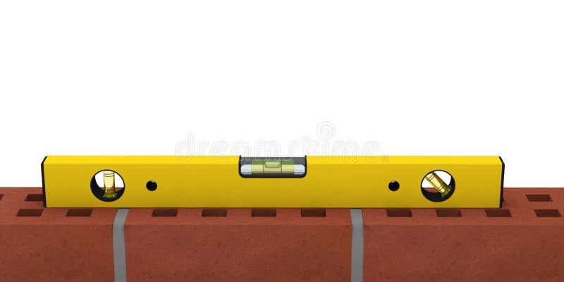 水平仪工具建筑精确度措施 库存例证